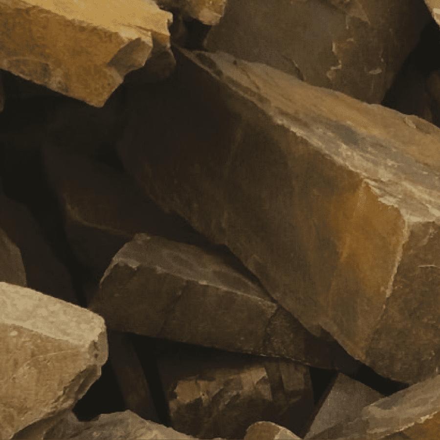 Moellons de pierre de Beauchamps ocre foncé